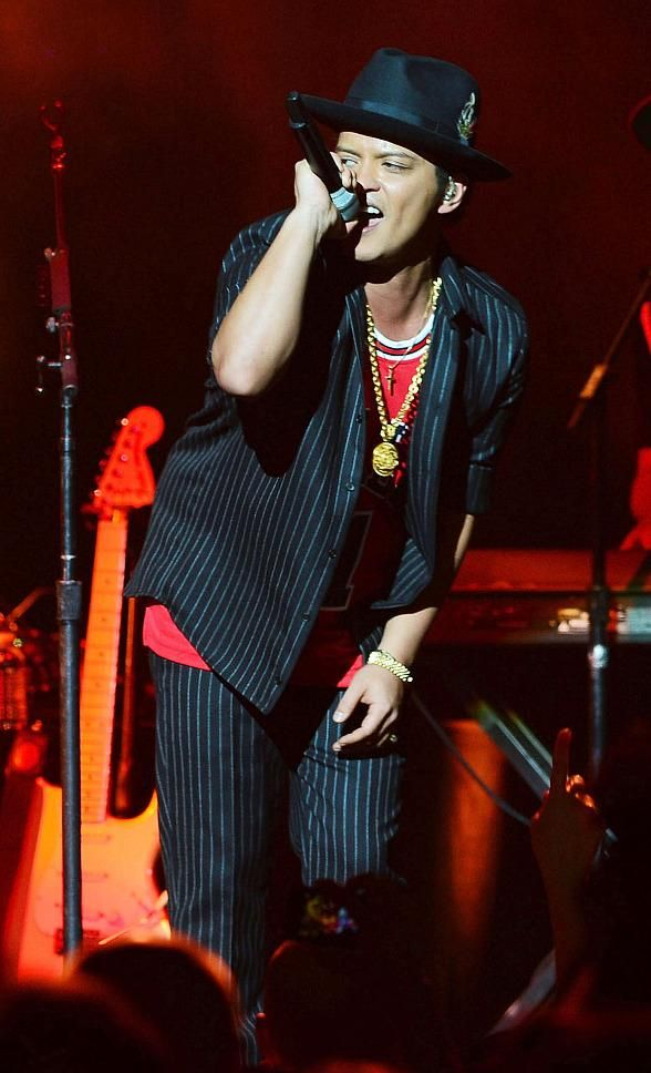 Bruno Mars performs at The Chelsea at The Cosmopolitan of Las Vegas on New Year's Eve  (Pictured: Bruno Mars – Photo credit: Denise Truscello /WireImage)