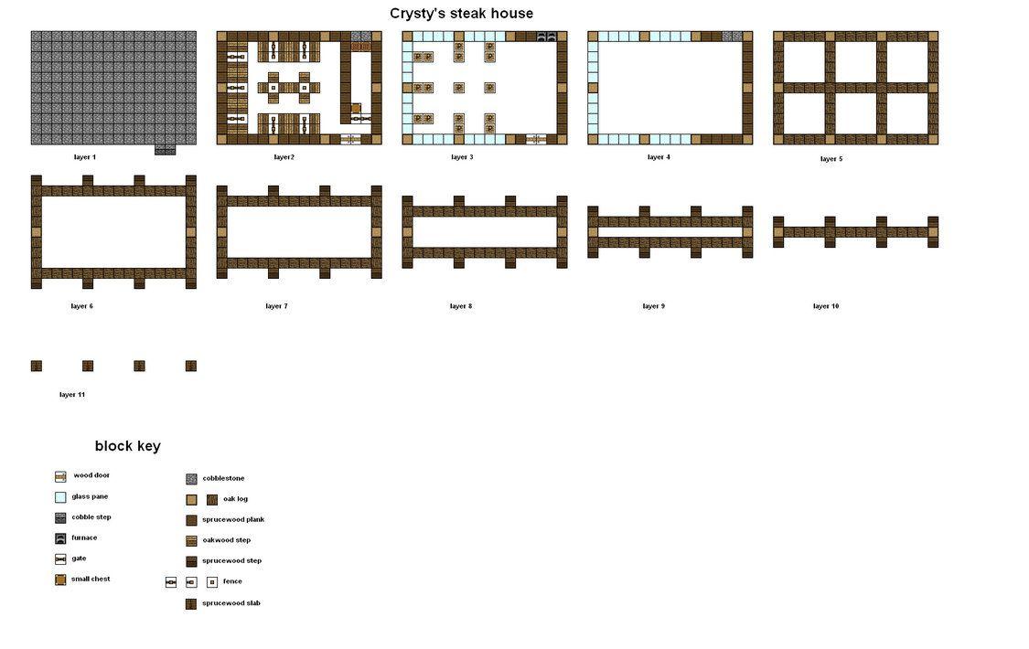 Minecraft floorplans crustys steak house by falcon01 minecraft layouts malvernweather Choice Image