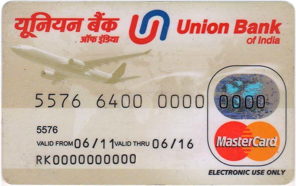 Mastercard Standard Union Bank Of India India Republic Col In Mc 0003 Union Bank Bank Card Bank Of India
