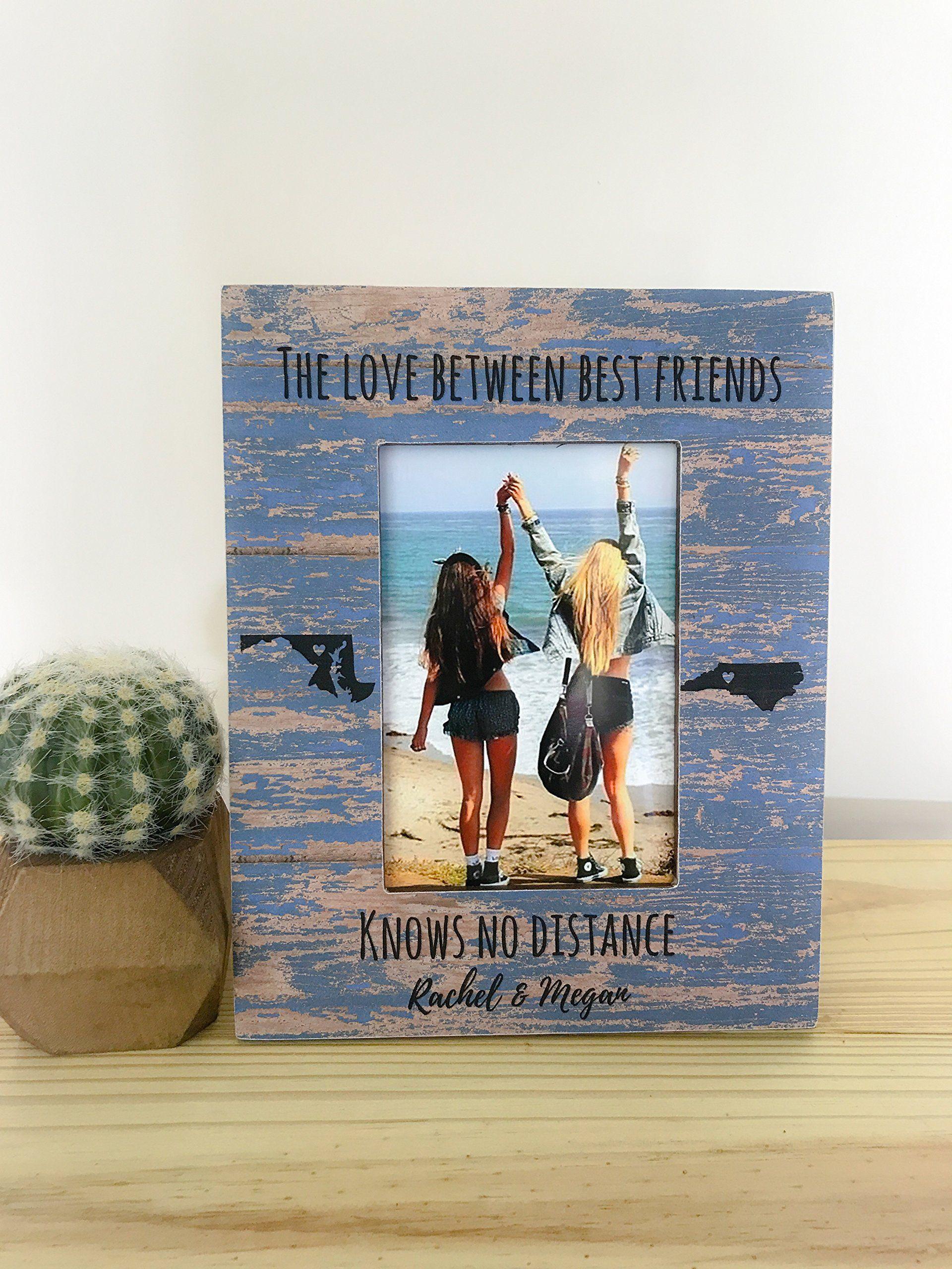 Best Friend Frame Long Distance Friendship Frame Best Friend Gift ...