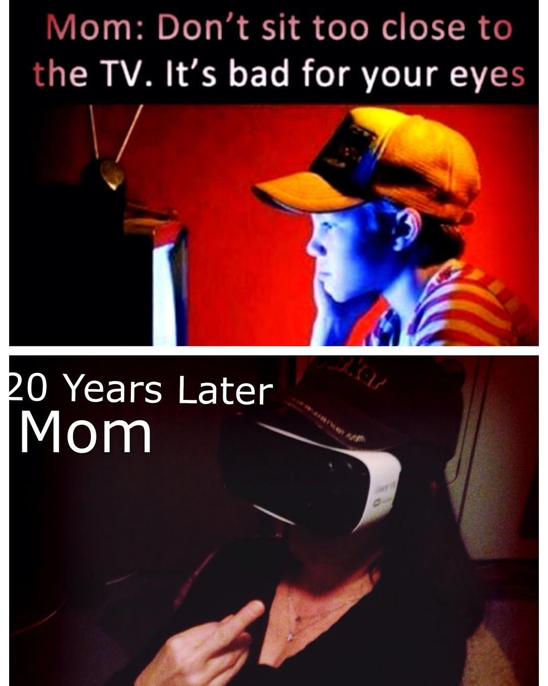 an awesome virtual reality pic love ya mom vr virtual
