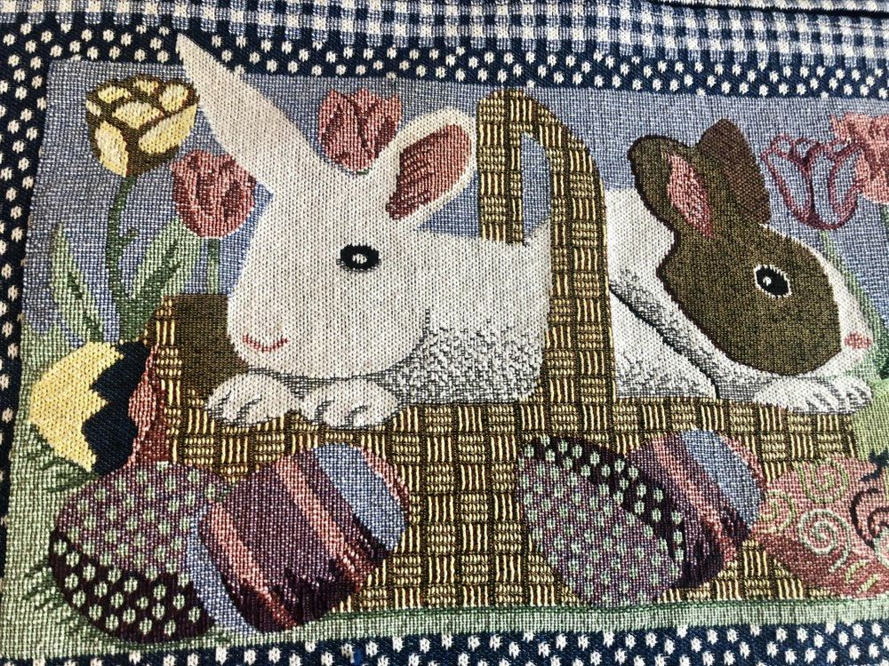 Fabulous Vintage 1990 S Easter Table Placemats Cotton Etsy Easter Placemats Easter Table Placemats