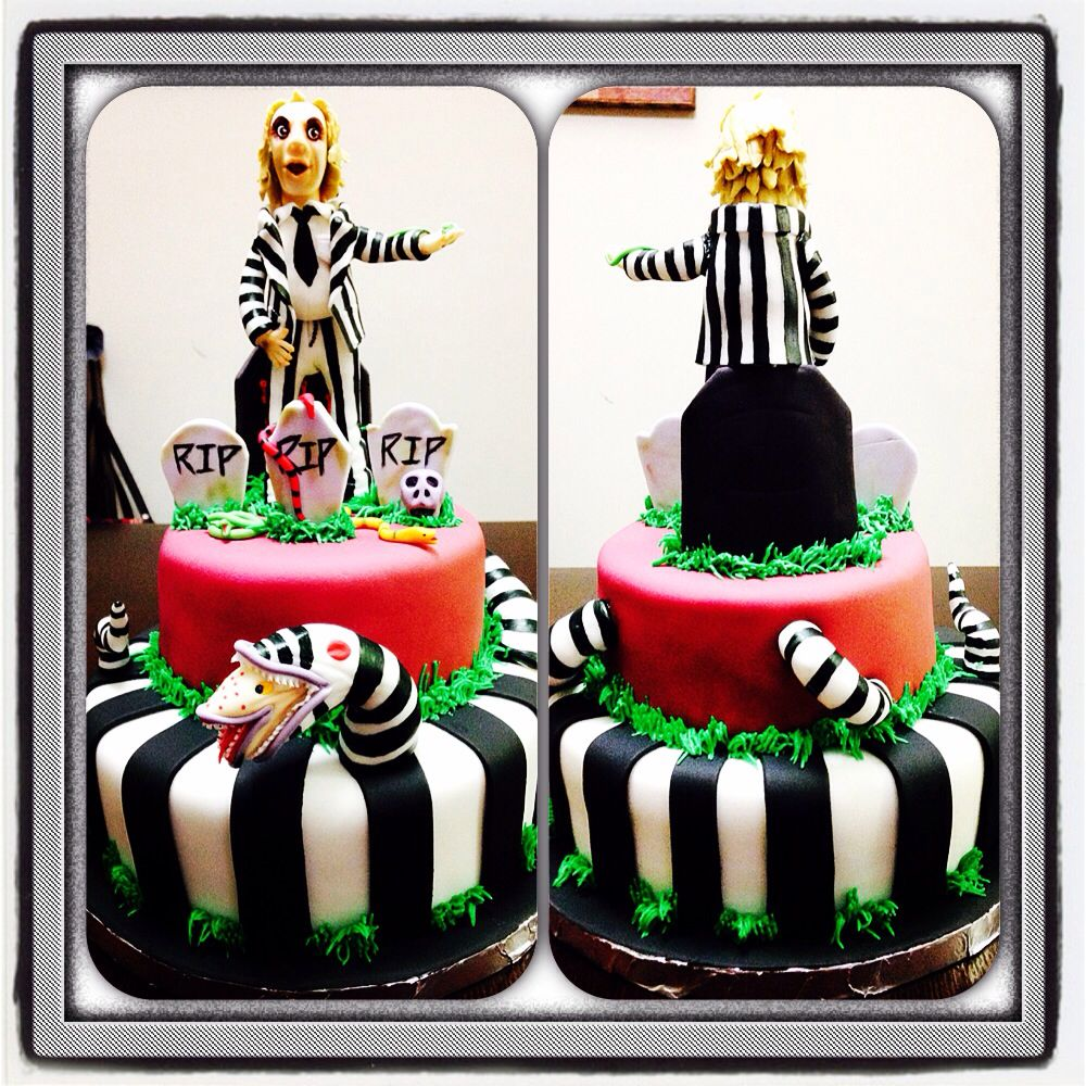 Beetlejuice cake! Party cakes, Horror cake, Amazing cakes