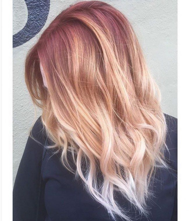 cheveux rose gold la tendance coloration rep r e sur instagram hair colors i love hair. Black Bedroom Furniture Sets. Home Design Ideas