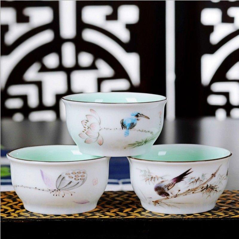 Upscale copo tigela pequena xícara de chá e jogo de chá em cerâmica jogo de chá de três xícaras de cerâmica pacotes frete grátis em Conjuntos de Chá e Café de Casa & jardim no AliExpress.com | Alibaba Group