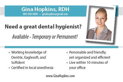 How to Launch a Dental Hygiene Postcard Campaign Getting a job - dental hygiene resumes