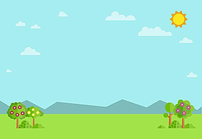 ناقلات الكرتون للأطفال خلفيات مناظر طبيعية مرسومة Landscape Background Cartoon Drawing For Kids Powerpoint Background Design