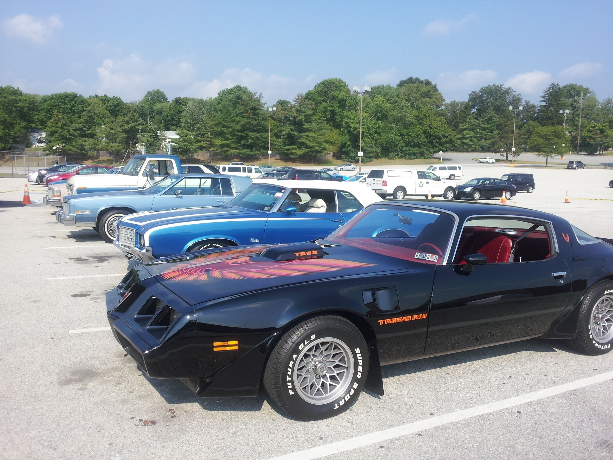 Classic Cars for the mall parking lot scene.