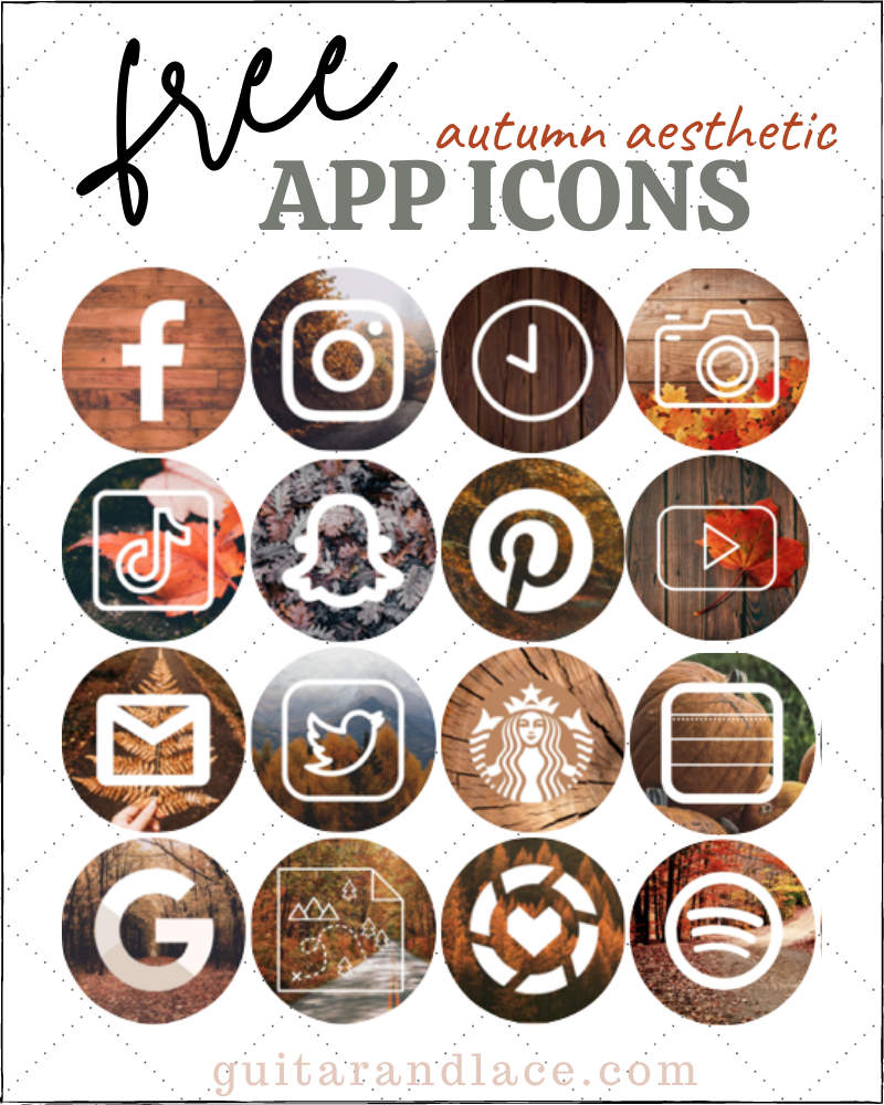 App Icons Aesthetic Fall