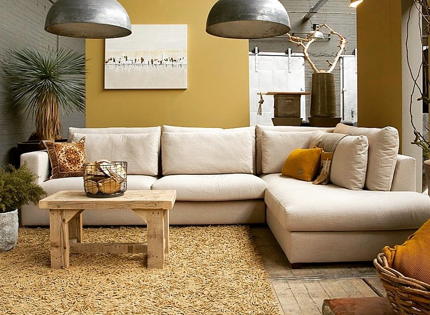 Landelijke Sofa Sarah Mo Hoekbank Zitbanken Thuisdecoratie