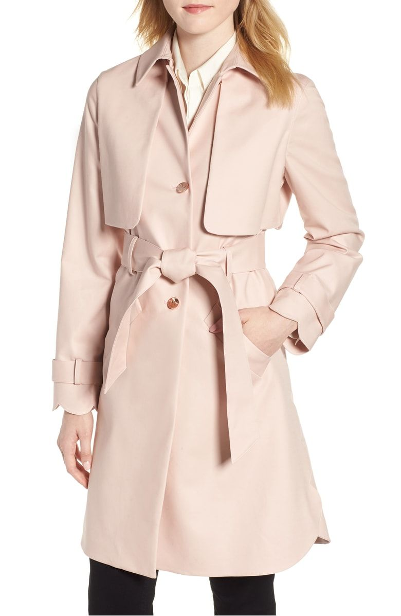 a3f0774e4d8c Scallop Detail Trench Coat