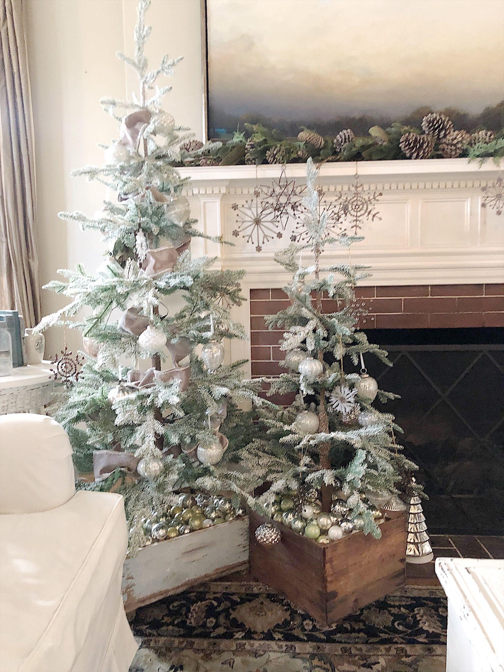 Christmas Tree Tour Holiday Decor Christmas Tree In Urn Christmas Centerpieces Diy