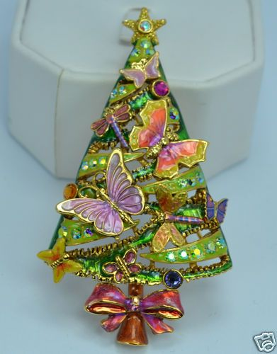 Kirks Folly on The Wings of Love Butterfly Christmas Tree Pin