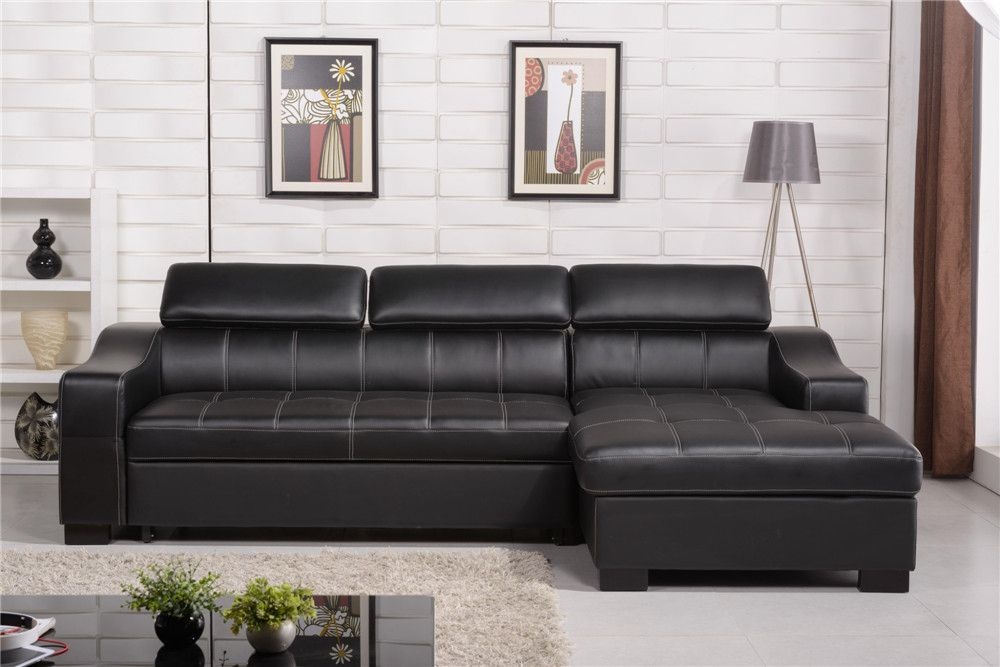 Black Leather Sofa Bed And Loveseat Set, Black Leather Sofa Bed With Storage