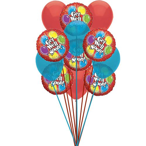 Get Well Soon Wishes Send Get Well Soon Balloons To Show How You Love If He She Get Well Balloon Bouquet Delivery Balloons Mylar Balloons