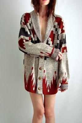 cozy navajo print sweaters