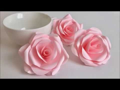 Paper Flower とても簡単 美しいバラ Beautiful Paper Rose Youtube Tissue Paper Flowers Paper Flower Tutorial Paper Roses Tutorial