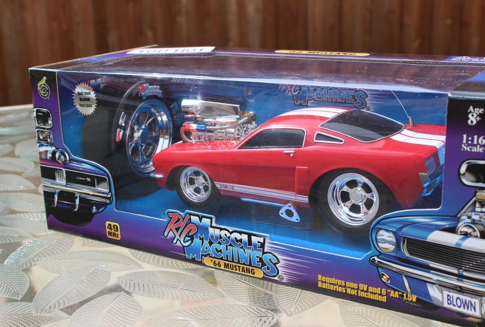 muscle machines red hot ford mustang 118 remote control 49mhz nib sealed