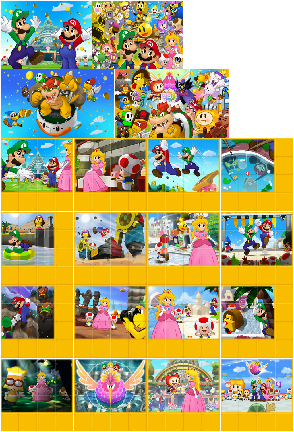 Mario Luigi Dream Team Staff Roll Images Mario And Luigi
