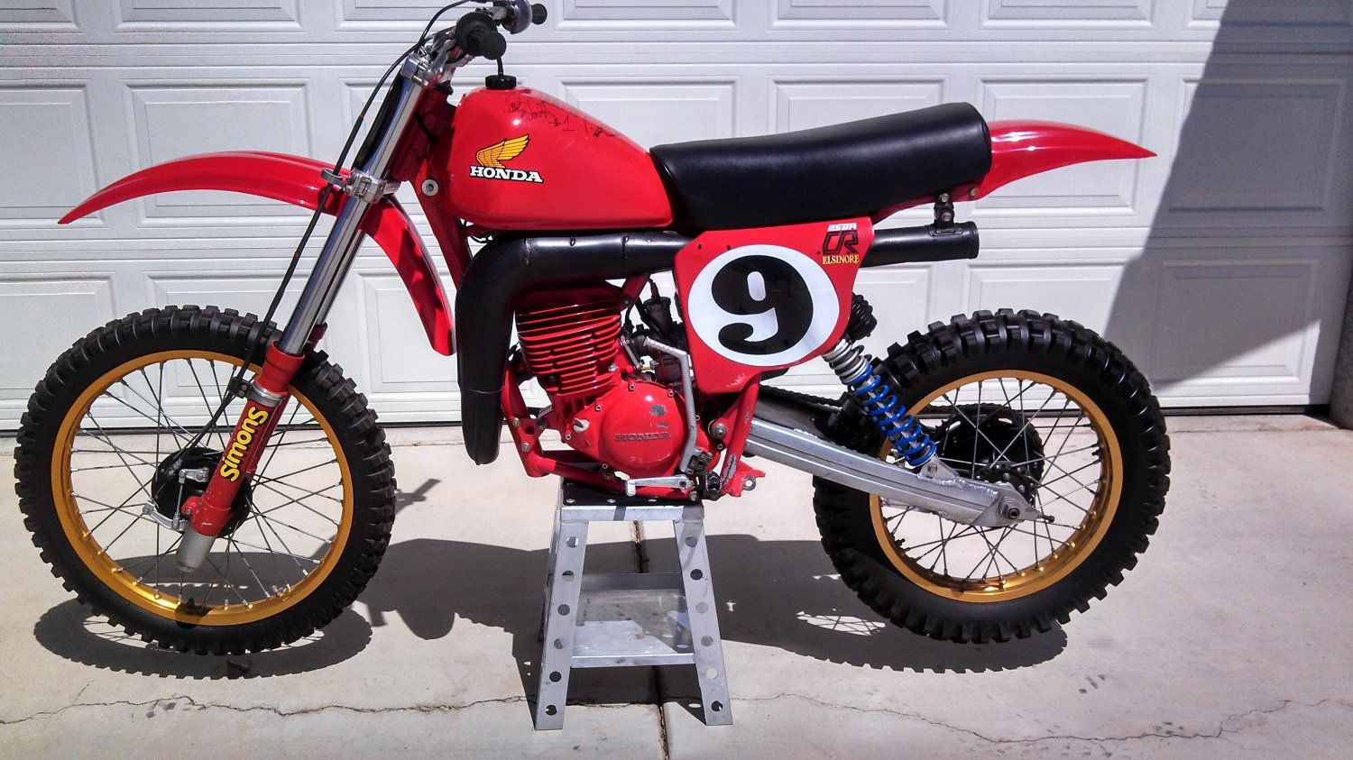 1978 Honda CR250 Elsinore Marty Smith Replica. This Bike Was Used As One Of  Two Display Bikes For Marty Smith's Induction Into The Walk Of Fame At Glen  ...