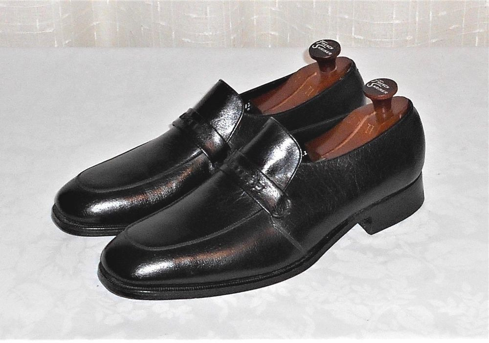 Florsheim Brown Leather Slip Ons Strap Loafers Shoes Mens sz 13.  Very Good