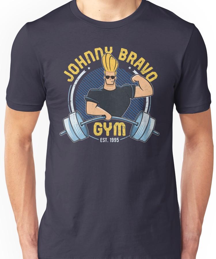 'Johnny Bravo Gym' TShirt by LanaWilchai Johnny bravo