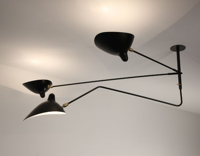 histoire de design les luminaires de serge mouille dining lights and interiors. Black Bedroom Furniture Sets. Home Design Ideas