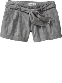 Old Navy Women's Tie-Belt Shorts-Gray Chambray $19.50