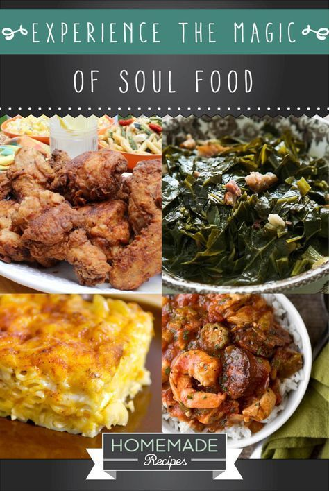 Experience the magic of these 14 soul food recipes http feast your eyes on these traditional southern african american soul food recipes fried chicken collard greens cornbread and so much more forumfinder Image collections