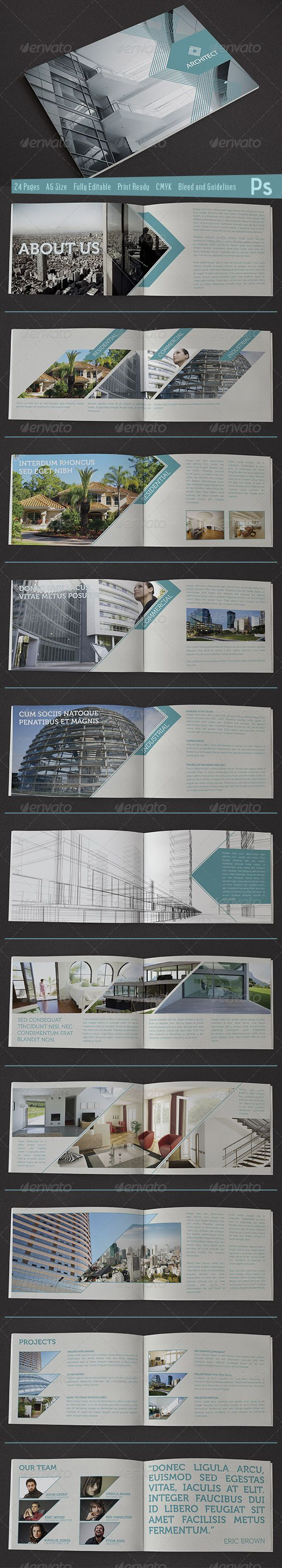 brosch re f r architekt brochure design pinte. Black Bedroom Furniture Sets. Home Design Ideas