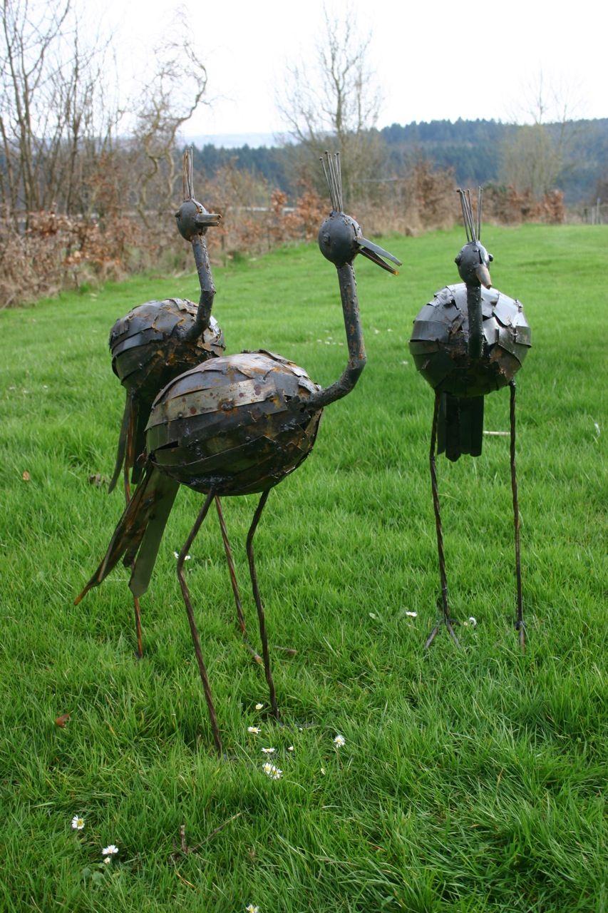 lebensgro e vogel skulpturen aus metall skulptur skulpturen v gel und skulpturen garten. Black Bedroom Furniture Sets. Home Design Ideas