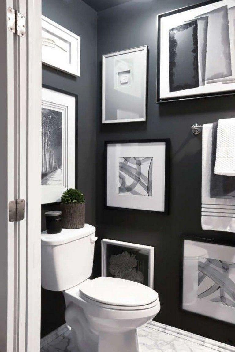 39 Elegant Black White Bathroom Design Ideas Black White