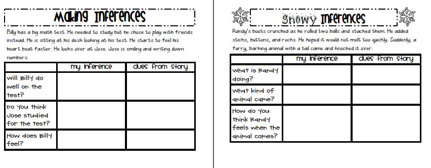Worksheets 1st Grade Delibertad – Inference Worksheets 2nd Grade