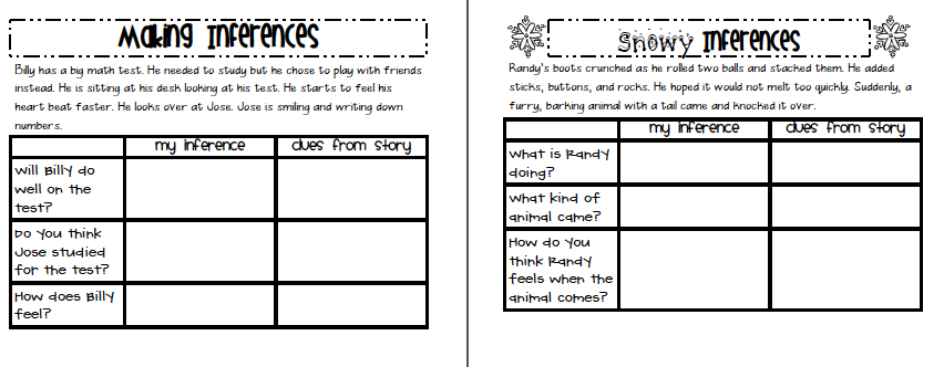 Inferring Mini Unit Edu Pinterest Inference First Grade And