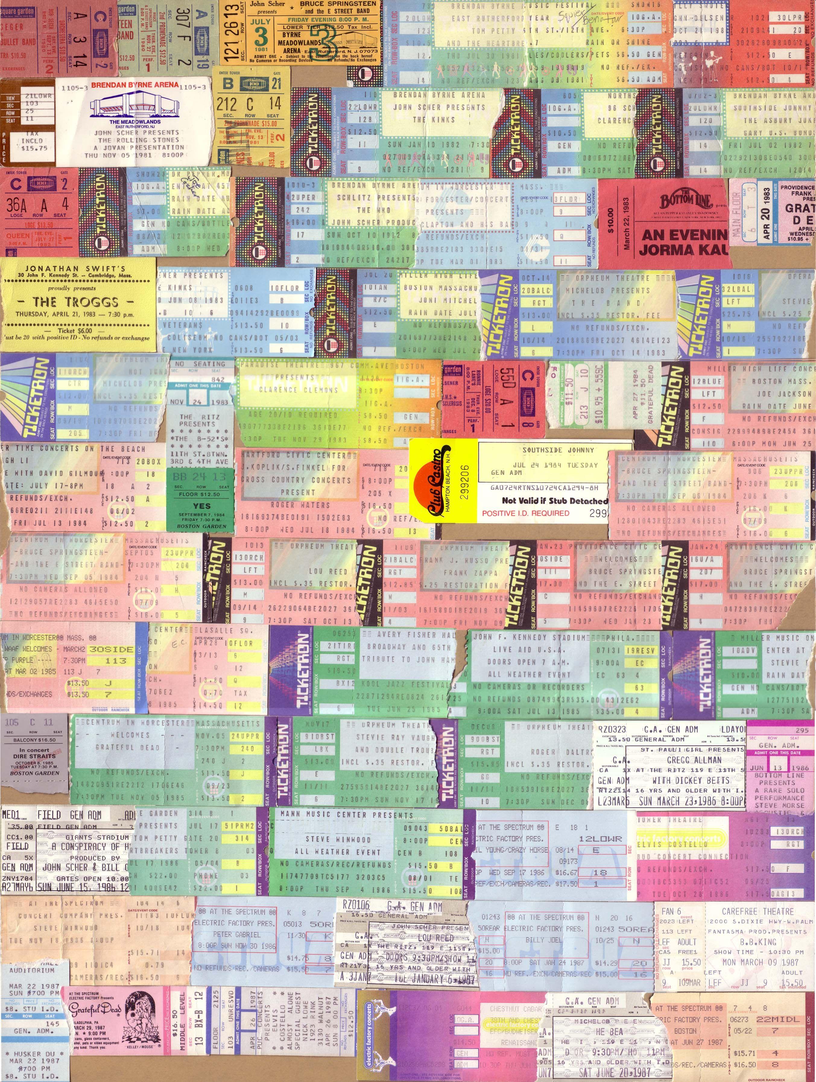 beatles 1966 original concert ticket stub los angeles ebay