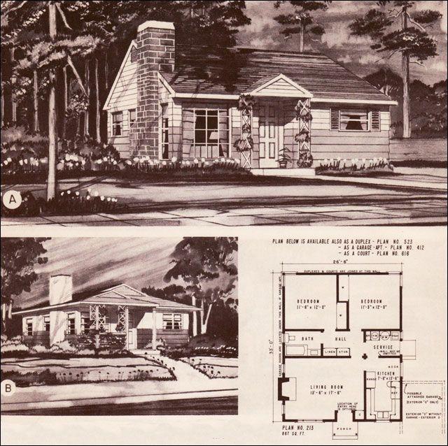 1940 S Style Home Plans | 1948 Hiawatha Estes Plans - No. 213 ...  S Home Plans on 1940's architecture, 1940's art, 1940's interior decorating, 1940's bathrooms, 1940 cape cod house plans, 1940's home decor, 1940's model home, 1940's garage, 1940's furniture, 1900 american foursquare house plans,