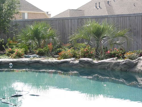 lawn landscaping pool renovations arbors fences stone work in plano - Pool Landscaping