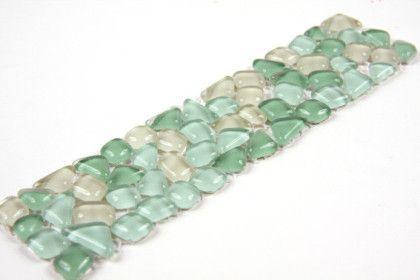 Micro palladania vert frise ou listel mosa que carrelage de verre mat inter salle de bain - Micro salle de bain ...