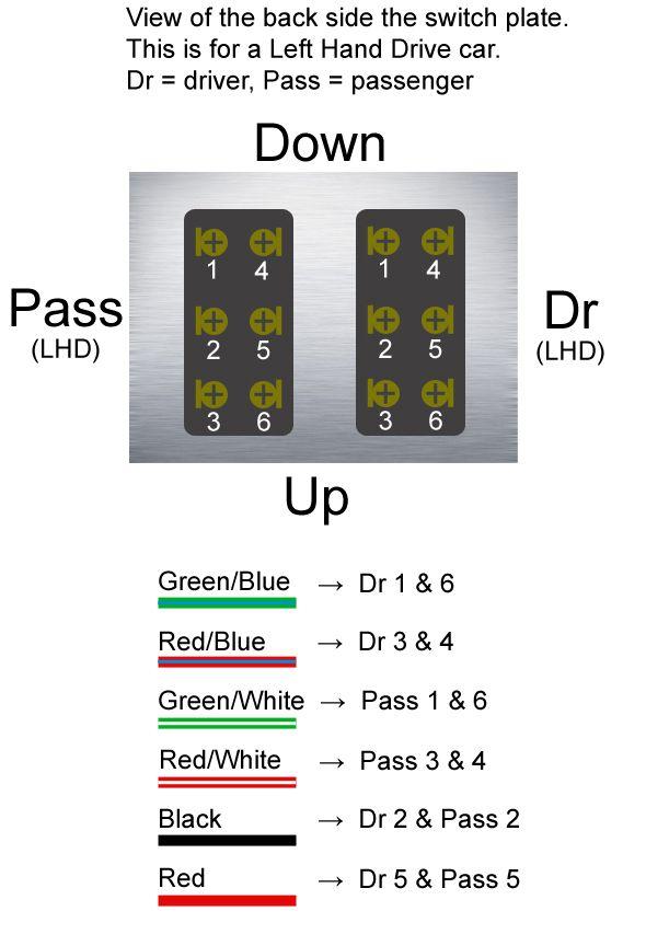 5 Pin Power Window Switch Wiring Diagram : power, window, switch, wiring, diagram, Power, Window, Switch, Power,, Switch,, Diagram