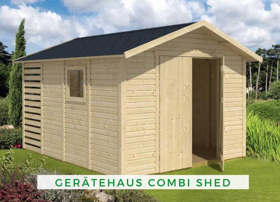 Geratehaus Combi Shed Dachschindeln Schuppen Ideen Haus
