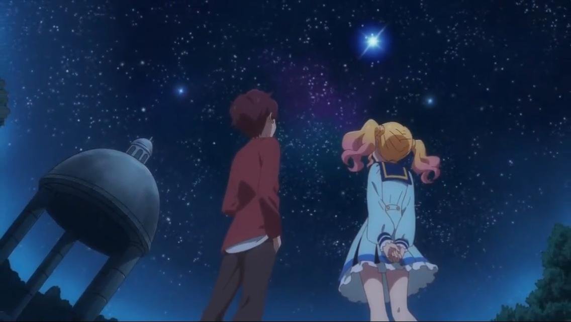 Aikatsu stars Nijino x Subaru moment towards the end of the ep 43 it almost felt kind of like a date.