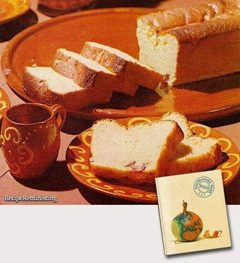"Bolo De Amendor – Portuguese Almond Cake–Portugisisk Mandelkake - A recipe from ""Kulinarisk Pass"" (Culinary Passport) published by Tupperware in 1970"
