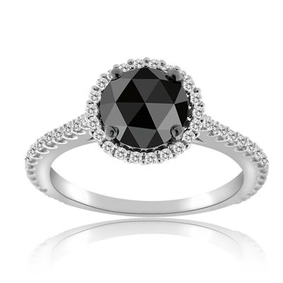 Black diamond ring to go with the wedding band. | First Comes Love ...