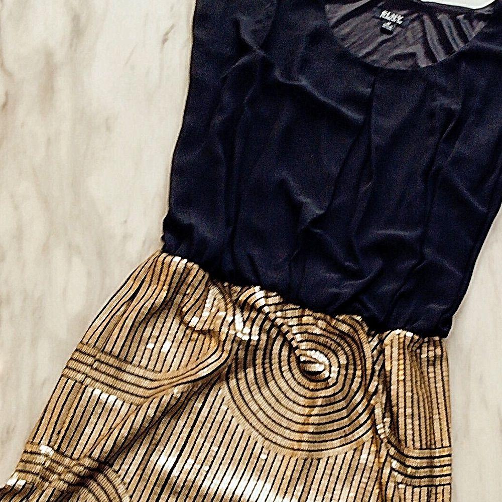 Hp Slny 14 Gold Sequin Nye Gatsby Holiday Dress