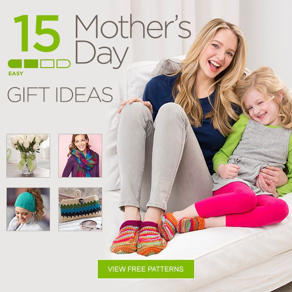 Free knitting and crochet patterns for Mother\'s Day gifts from Red ...