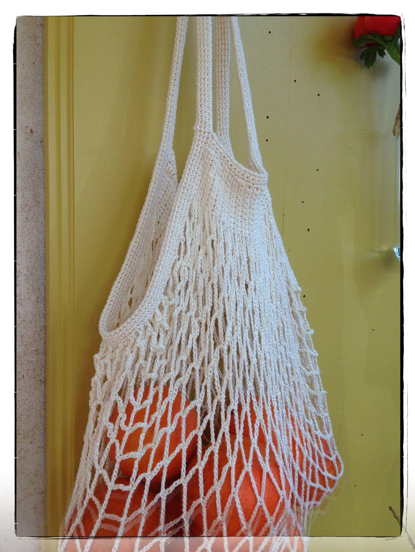 le filet provisions r tro au crochet z ro plastique z ro d chet autres sacs par mofer. Black Bedroom Furniture Sets. Home Design Ideas