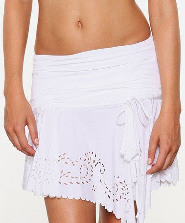 Was $96 is now $42.  Take a look at this White Convertible Cover-Up Mini Skirt by 1 Sol Swim on #zulily today!