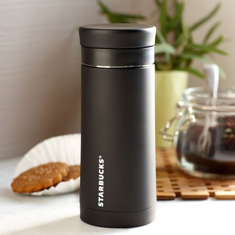 Stainless Steel Travel Press Black 10 Fl Oz 19 95 At Starbucksstore Com Coffee Store Starbucks Starbucks Coffee