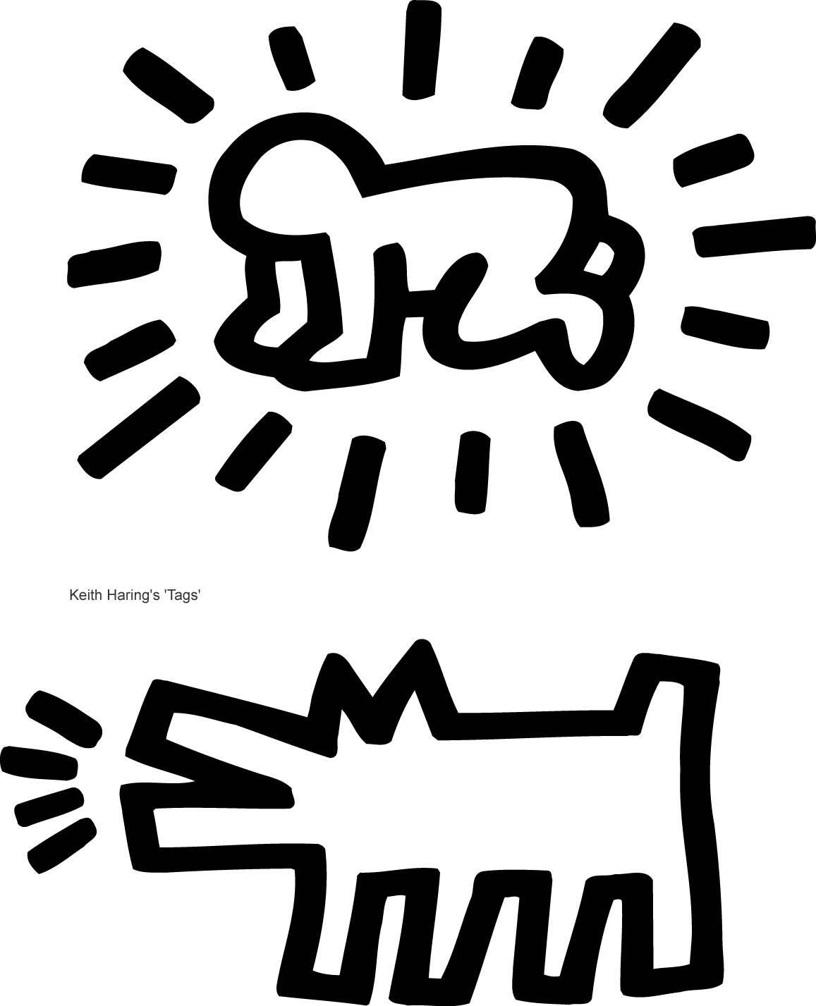 Keith Haring Colouring Pages Keith Haring Haring Art Keith