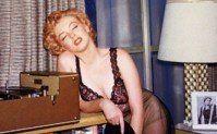 Marylin Monroe listening to music